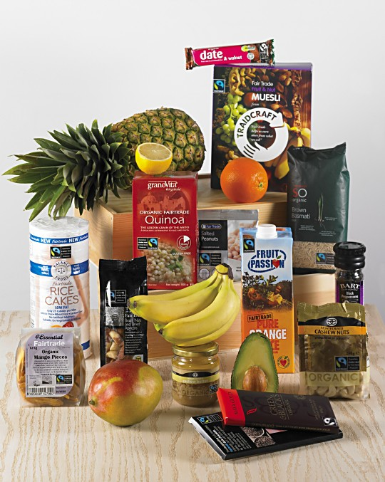 PHOTO: Selection of products with the FAIRTRADE Mark
