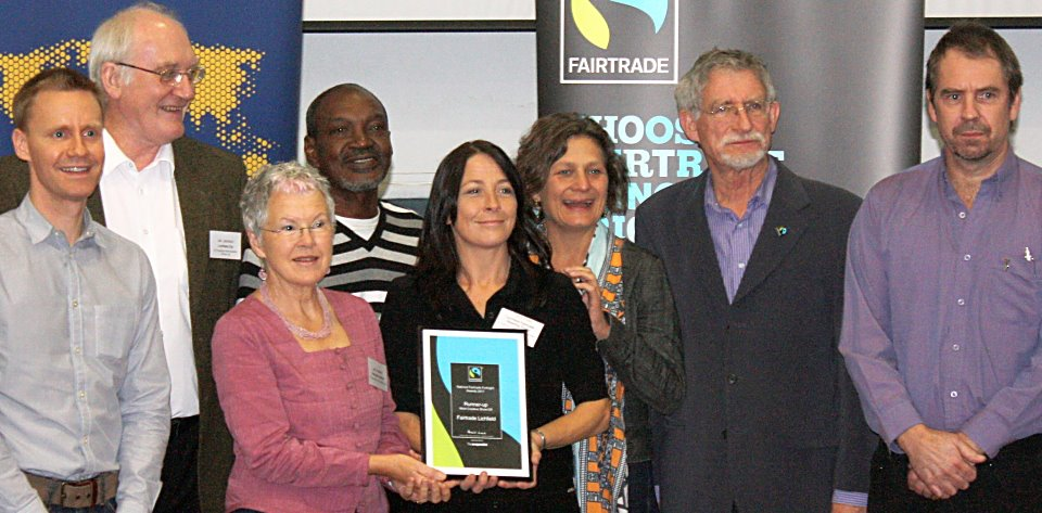 PHOTO: Fairtrade activists receive an award