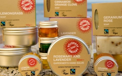 PHOTO: A selection of Fairtrade soaps and salves